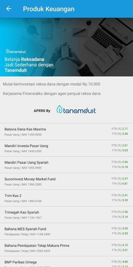 Produk Keuangan Tanamduit Aplikasi Finansialku 2