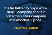 Kata-kata Bijak Warren Buffett Membeli Perusahaan yang Bagus - Finansialku