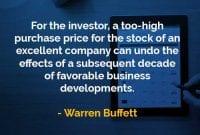 Kata-kata Bijak Warren Buffett Harga Beli yang Terlalu Tinggi - Finansialku