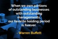 Kata-kata Bijak Warren Buffett Memiliki Bagian Dari Bisnis - Finansialku