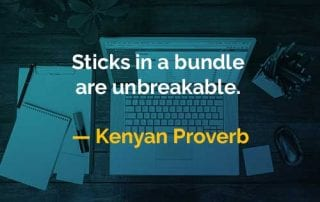 Kata-kata Bijak Kenyan Proverb Tongkat di Dalam Bungkusan - Finansialku
