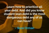 Kata-kata Motivasi Suze Orman Cara Memprioritaskan Semua Utang - Finansialku