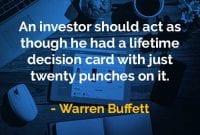 Kata-kata Bijak Warren Buffett Investor Harus Bertindak Seolah-olah - Finansialku