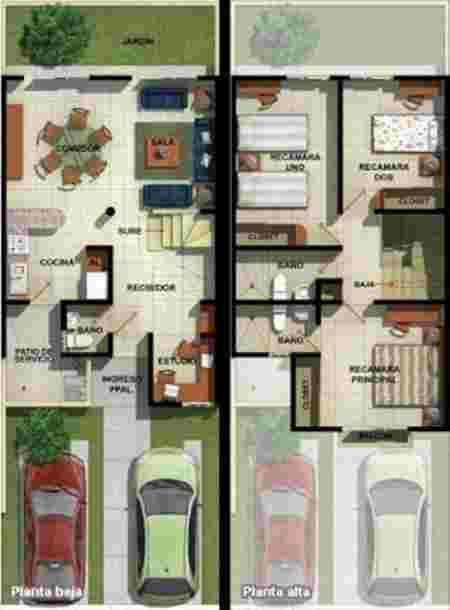 10 Inspirasi Denah Rumah 2 Lantai Untuk Keluarga Muda 11 - Finansialku