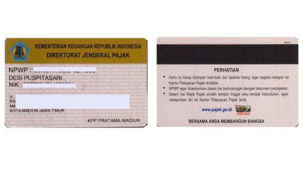 Kartu NPWP Pribadi - Finansialku
