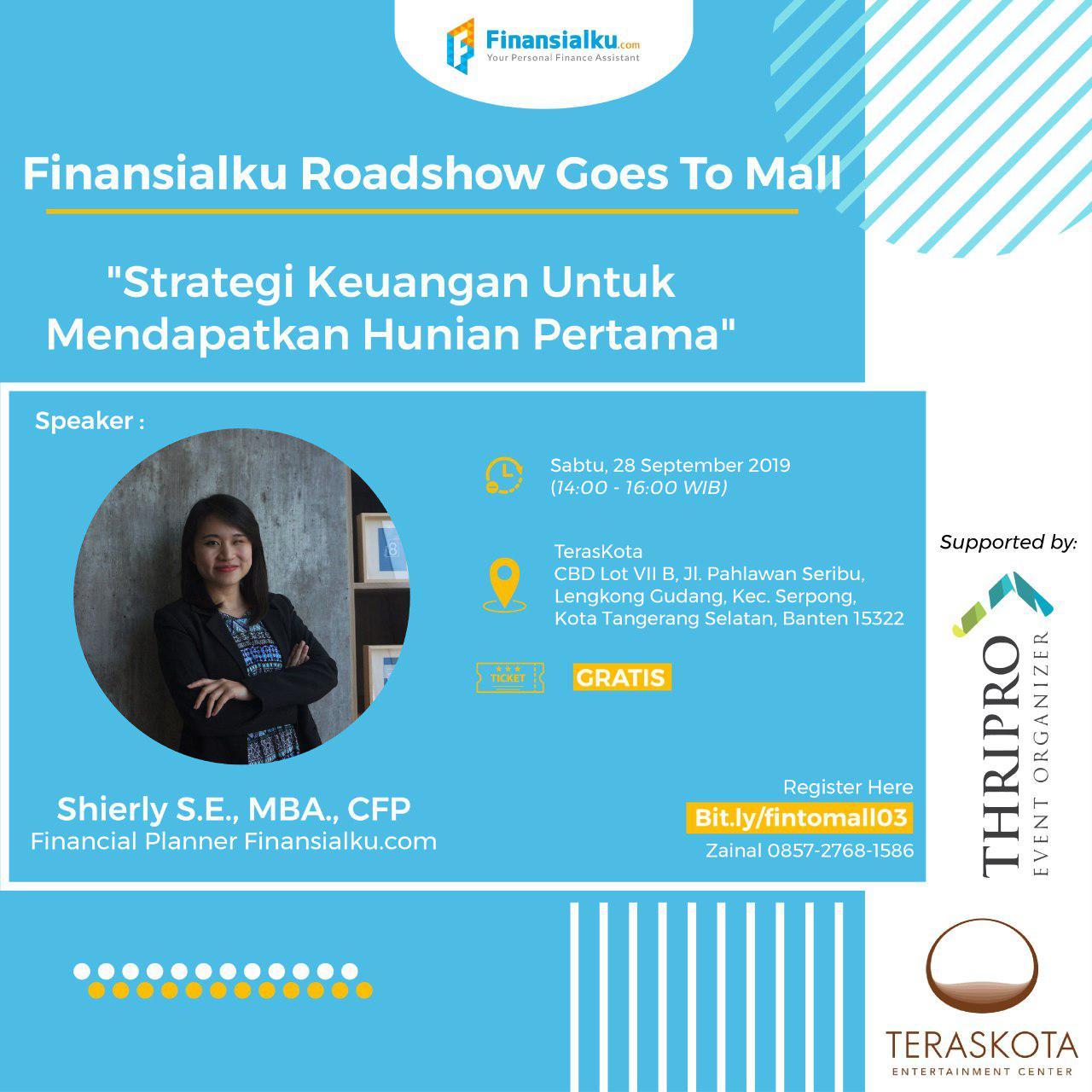 Finansialk Goes To Mall: Strategi keuangan untuk mendapatkan hunian pertama