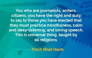 Kata-kata Bijak Thich Nhat Hanh Seorang Jurnalis dan Penulis - Finansialku