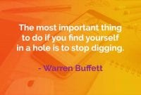 Kata-kata Bijak Warren Buffett Berada Dalam Lubang - Finansialku