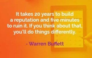 Kata-kata Bijak Warren Buffett Membangun Reputasi - Finansialku