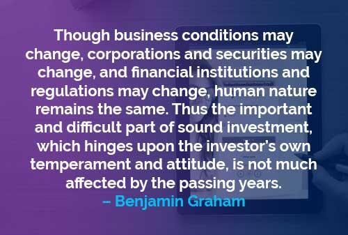 Kata-kata Motivasi Benjamin Graham Sifat Manusia Tetap - Finansialku