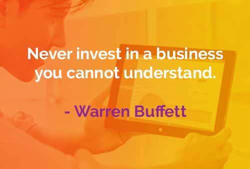 Kata-kata Bijak Warren Buffett Investasi Pada Bisnis - Finansialku