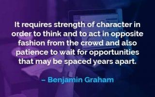 Kata-kata Motivasi Benjamin Graham Kekuatan Karakter - Finansialku