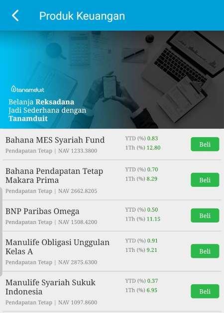 Beli Reksadana melalui aplikasi Finansialku 2