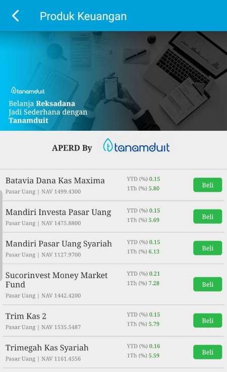 Beli Reksadana melalui aplikasi Finansialku