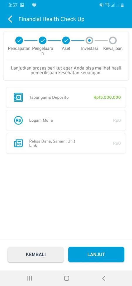 Cek Kesehatan Keuangan (Financial Health Check Up) Aplikasi Finansialku 04