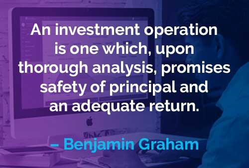 Kata-kata Motivasi Benjamin Graham Cara Kerja Investasi - Finansialku