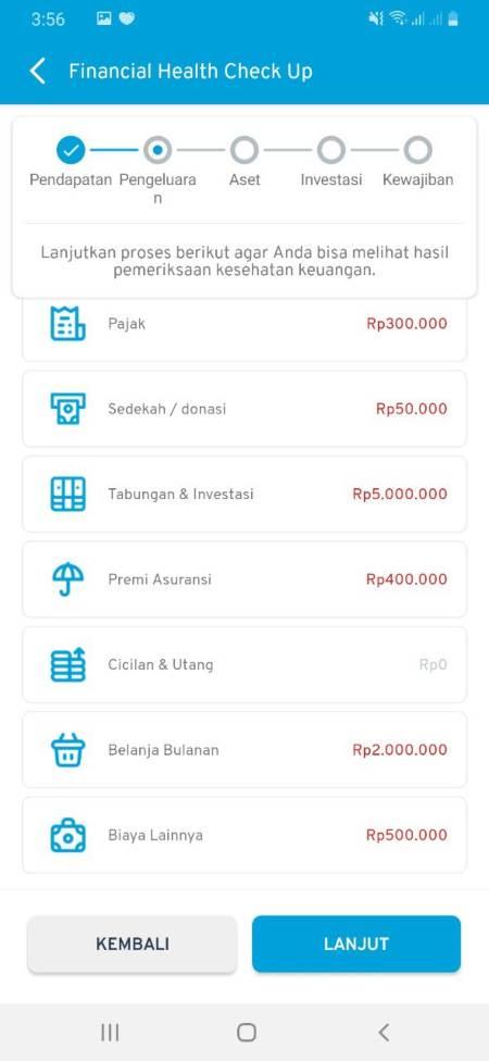 Cek Kesehatan Keuangan (Financial Health Check Up) Aplikasi Finansialku 02