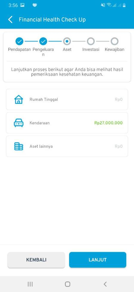 Cek Kesehatan Keuangan (Financial Health Check Up) Aplikasi Finansialku 03