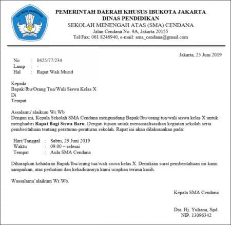 Judul 5 Contoh Surat Resmi Undangan yang Baik dan Benar! 02 - Finansialku