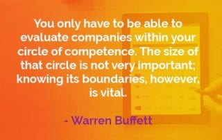 Kata-kata Bijak Warren Buffett Lingkaran Kompetensi - Finansialku