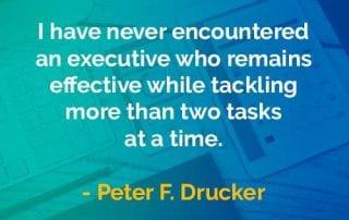 Kata-kata Bijak Peter Drucker Eksekutif yang Tetap Efektif - Finansialku