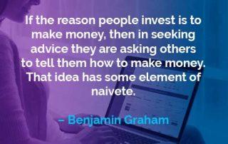 Kata-kata Motivasi Benjamin Graham Alasan Orang Berinvestasi - Finansialku