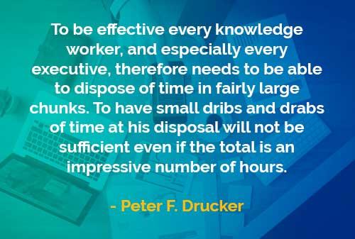 Kata-kata Bijak Peter Drucker Waktu Efektif Seorang Eksekutif - Finansialku
