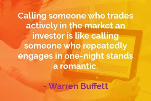 Kata-kata Bijak Warren Buffett Memanggil Seseorang - Finansialku
