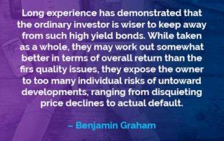 Kata-kata Motivasi Benjamin Graham Obligasi Hasil Tinggi - Finansialku