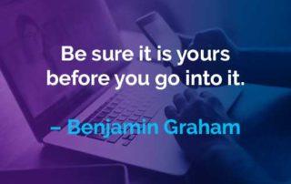 Kata-kata Motivasi Benjamin Graham Milik Anda - Finansialku