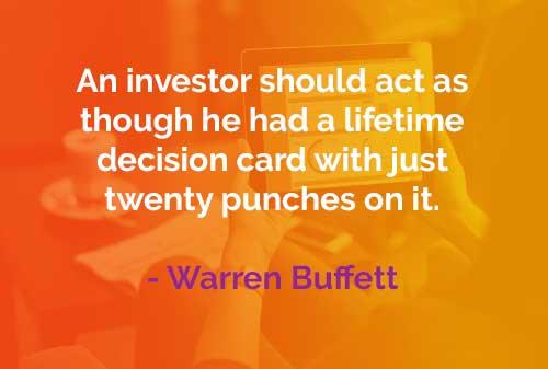 Kata-kata Bijak Warren Buffett Kartu Keputusan Seumur Hidup - Finansialku