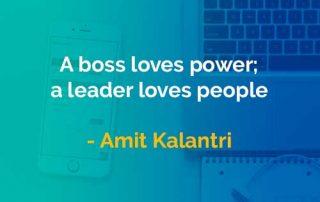 Kata-kata Bijak Amit Kalantri Bos Mencintai Kekuasaan - Finansialku