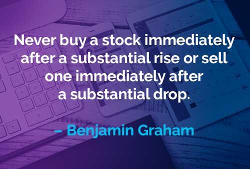 Kata-kata Motivasi Benjamin Graham Beli dan Jual Saham - Finansialku