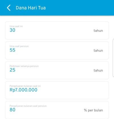 Dana Hari Tua Rencana Keuangan Aplikasi Finansialku