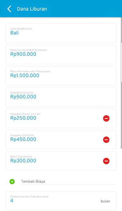 Dana Liburan Bali Aplikasi Finansialku
