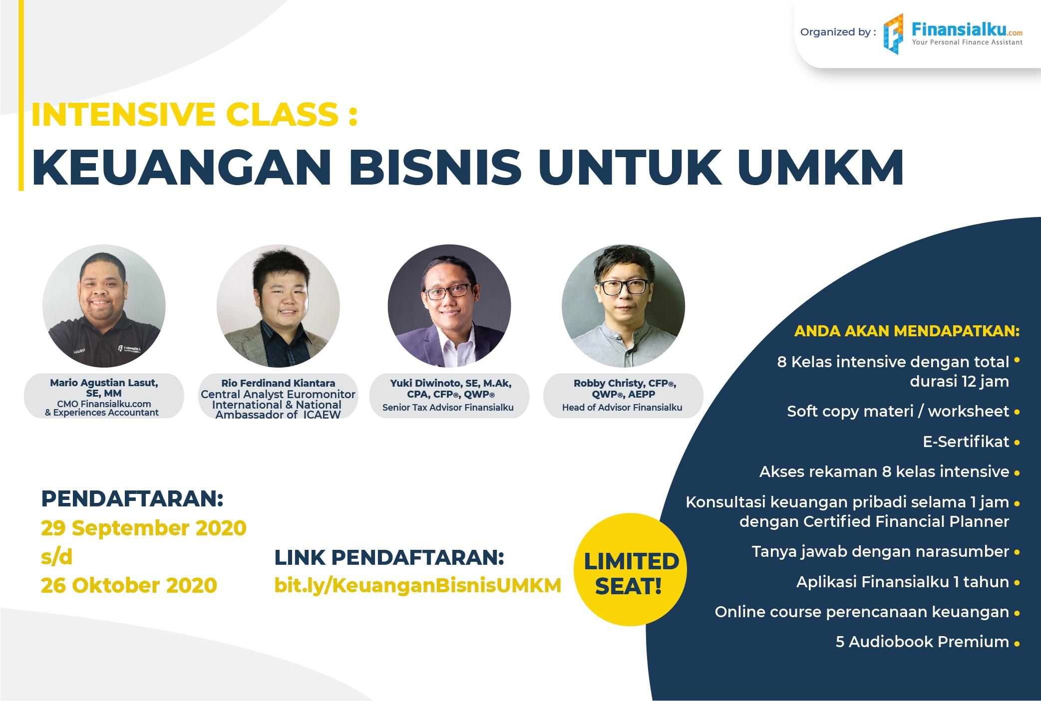 Intensive Class: Keuangan Bisnis Untuk UMKM