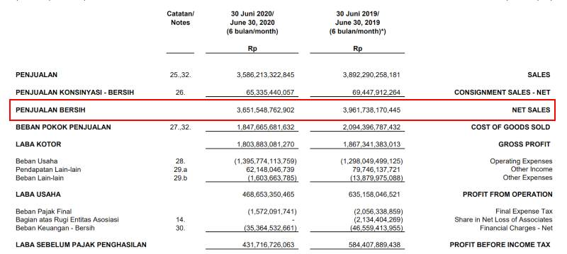Consolidated financial statements as of June 30, 2020