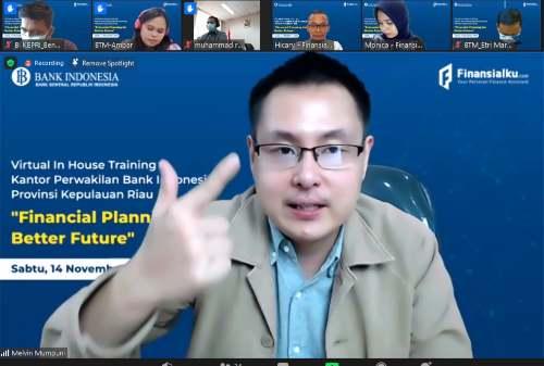 Finansialku Sukses Gelar Acara Virtual In House Training Kantor BI Kepri 0