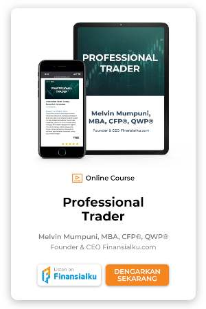 Online course professional trader banner