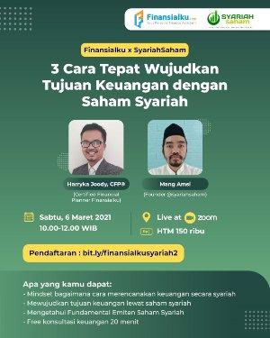 Wujudkan Tujuan Keuangan Syariah Bersama Finansialku dan Syariah Saham poster