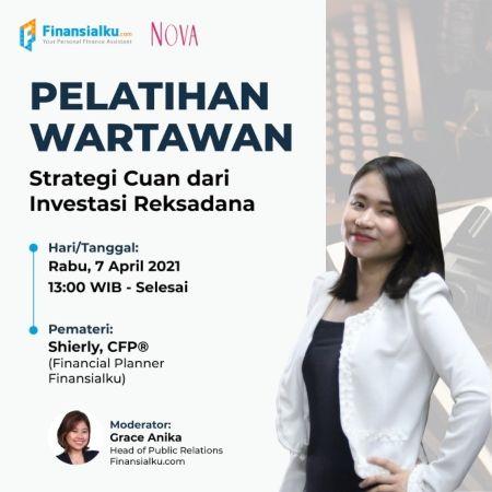 "Finansialku X Nova Pelatihan Wartawan ""Strategi Cuan Dengan Reksa Dana"" poster"