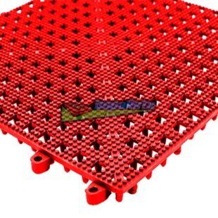 Piso Flexivel ( PVC ) 30x30cm - Vermelho ( caixa com 9 un )