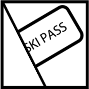 Ski pass pocket