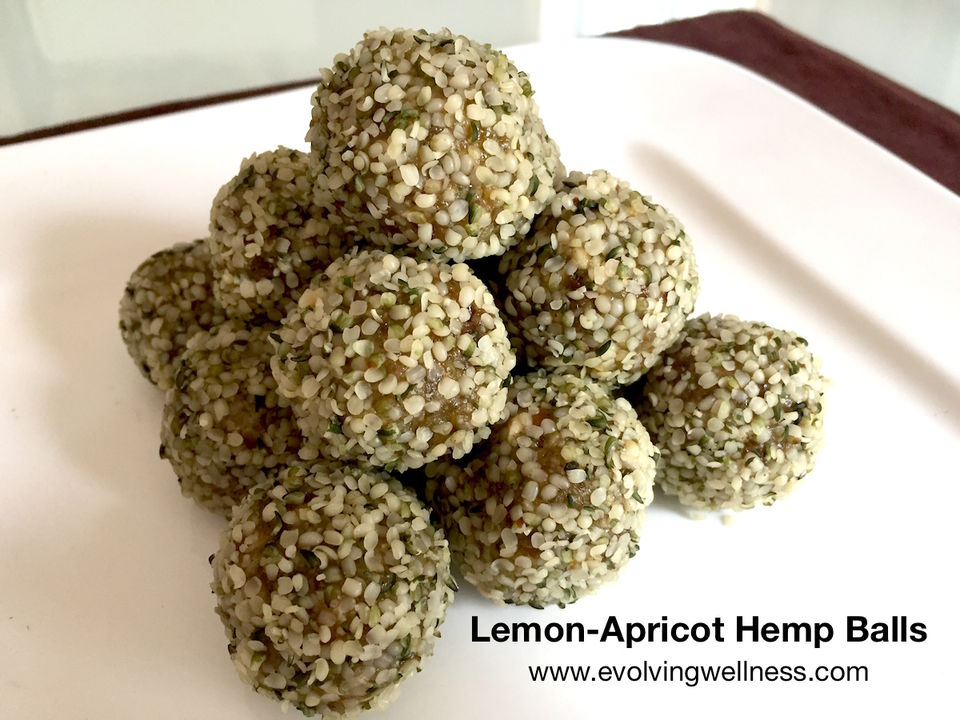 Lemon-Apricot Hemp Balls / Evolving Wellness