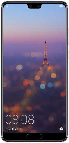 Huawei P20 Dual Sim 128 GB Midnight Blue Deblocat Excelent imagine
