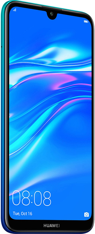 Huawei Y7 2019 32 Gb Aurora Blue Deblocat Foarte Bun