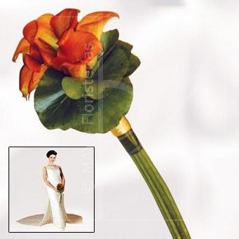 Bouquet de calla naranja