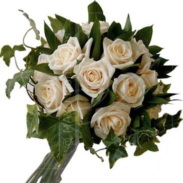 Bouquet de rosas champagne