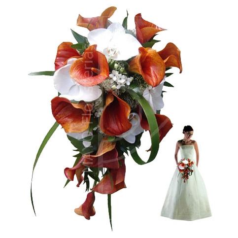 Ramo de calas y orquídeas