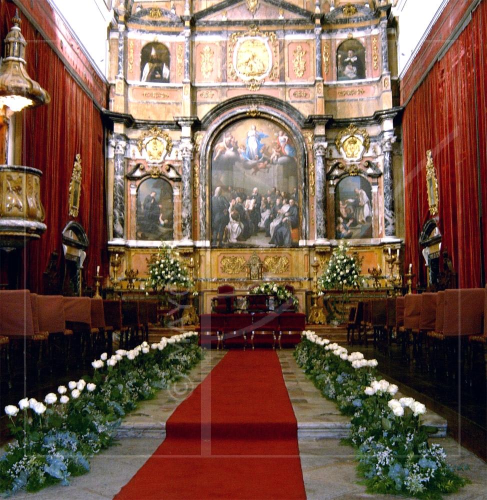 Decoración bodas Capilla Universidad de Salamanca